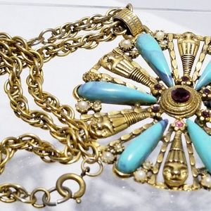 Jewelry - Egyptian revival huge pendant necklace